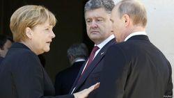 Порошенко с Меркель обсудили угрозу срыва «перемирия» на Донбассе