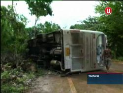 Снова ДТП автобуса с российскими туристами в Таиланде – 19 травмированных