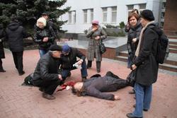 В Хмельницком при штурме здания СБУ погибла женщина