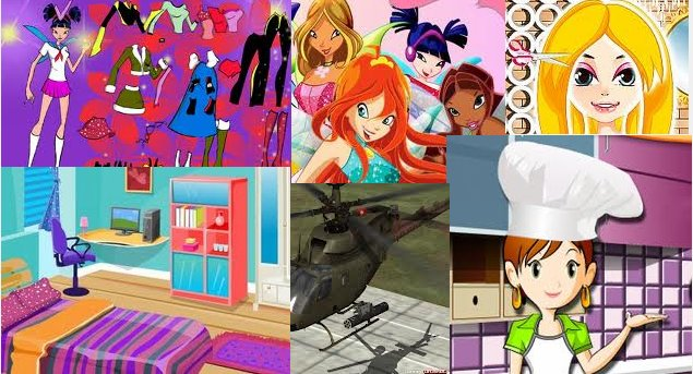 Какие в Интернете самые популярные игры для девочек