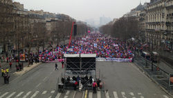 Противники однополых браков устроили акцию протеста во Франции