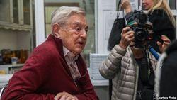 Бишкек встретил Джоджа Сороса демонстрацией протеста