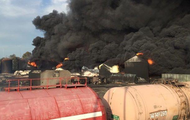 Под Киевом произошел взрыв нанефтебазе
