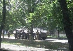 Красный Лиман с флагом Украины и верной присяге милицией – Аваков