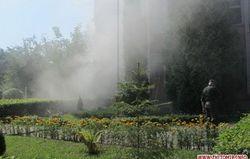В Житомире горел военкомат, в Ужгороде напали на СБУ
