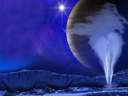 Солнечная система - Хаббл обнаружил над спутником Юпитера Европой водяной пар