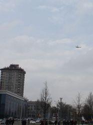 Боевики ДНР стреляют по вертолету в Донецке