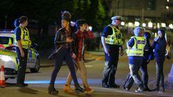 Эвакуация зрителей в Манчестере