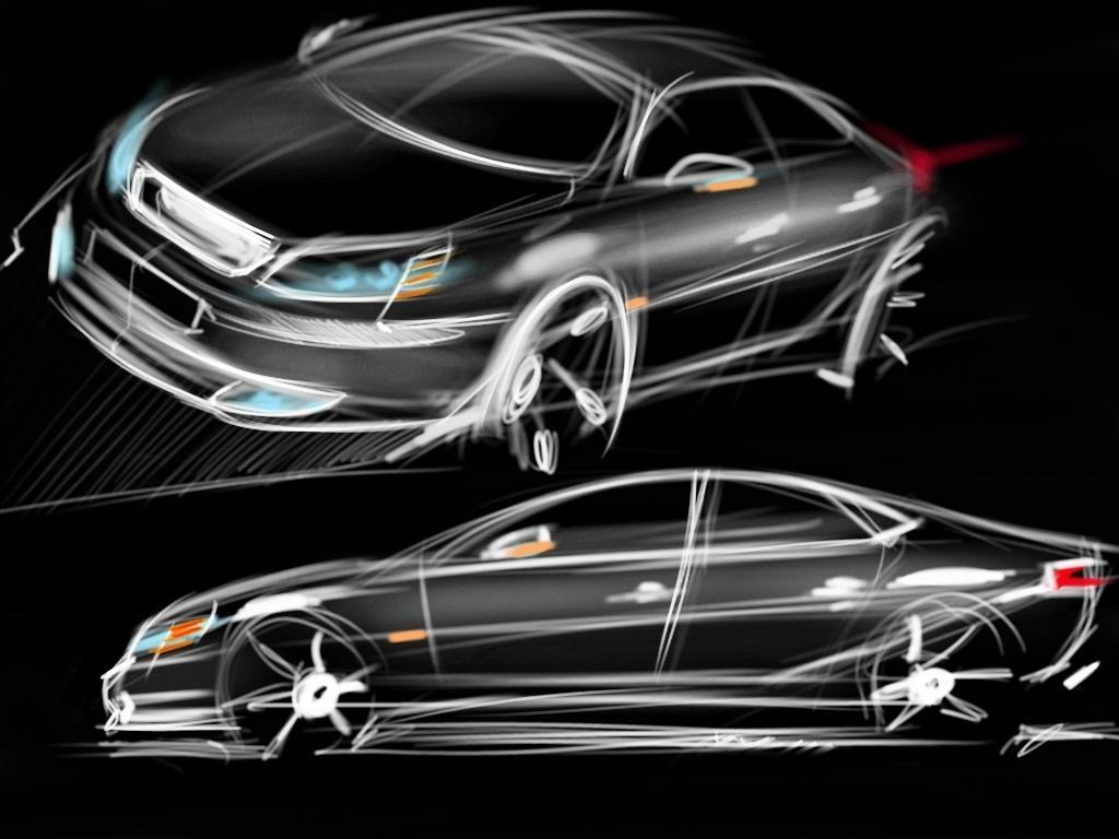 (1024х768, 207 Kb) Нарисованная новая модель машины - лучшие обои для рабочего стола и картинки, авто и мото.