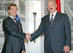 Д.Медведев и А.Лукашенко