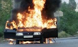 Сгорели автомобили, изъятые за долги