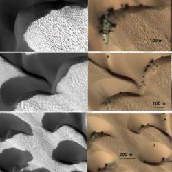 Американские ученые шокированы движением дюн на Марсе