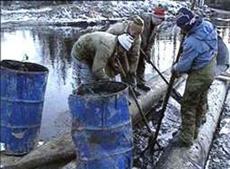 В Волгоградской области произошла утечка нефти