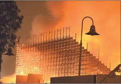 пожар в Дохи