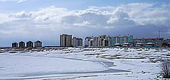 В Якутии спасали детей с отколовшейся льдины