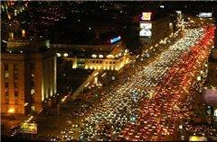 Рекордные автомобильные заторы в Москве