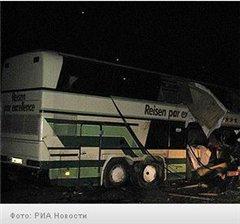 В Подмосковье автобус влетел в грузовик