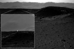 Марсоход Curiosity запечатлел огненный столб на Красной планете
