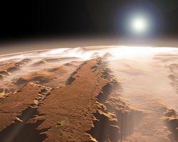 """Mars Express удивило зрелищным 3D видео """"жизни"""" Марса"""