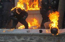 Символично: В Михайловском соборе отпели милиционеров, погибших на Майдане