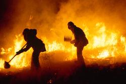 "В Андижане произошел пожар на складе совместного предприятия ""Уз-Тонг Хонг Ко"""
