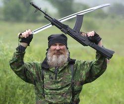 Казаки из России вытесняют местных боевиков в Луганской области