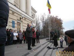 Активисты Евромайдана заблокировали городской совет Запорожья