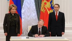 Путин подписал законы о вхождении Крыма и Севастополя в состав РФ