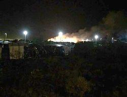В ночь после терактов во Франции сожгли лагерь для беженцев