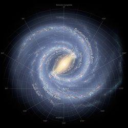 Спиральные рукава нашей галактики