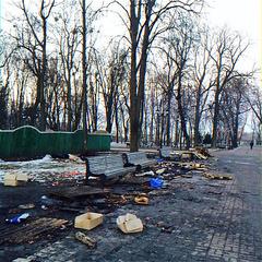 1:0 в пользу оппозиции: Евроинтеграторы убрали мусор после Антимайдана