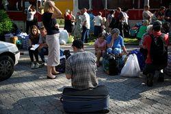 """В Миргороде """"беженцы с Донбасса"""" вывесили флаг ДНР"""