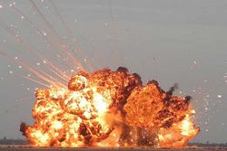 В Донецке взорвались склады боеприпасов террористов