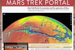 NASA обновило интерактивную карту Марса