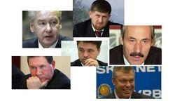 82 популярных главы регионов РФ в августе 2014г.