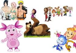 60 самых популярных в Интернете мультфильмов у россиян июля 2014 г.