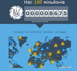 Интернет-проект «Нас 100 миллионов» объединяет украинцев и симпатиков