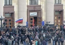 Антимайдан в Харькове требует федерализации и ждет Царева