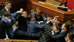 Депутаты КПУ и Свободы подрались в ВР из-за событий в Донецке