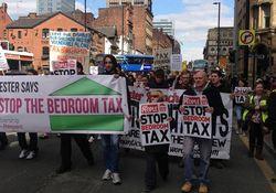 Протест в Манчестере