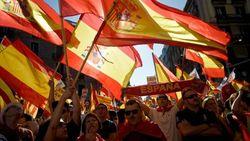 Демонстрация в Барселоне против выхода из Испании