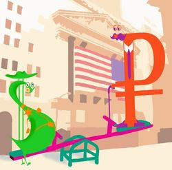 Курс доллара США растёт к рублю на данных по обрабатывающей отрасли России