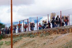 На границе между Узбекистаном и Кыргызстаном установлено заграждение из колючей проволоки
