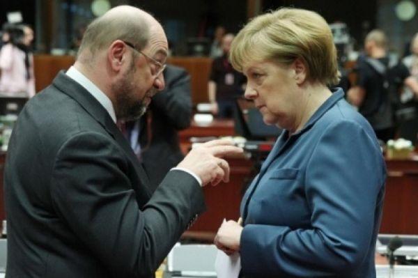 Мартин Шульц опередил попопулярности Ангелу Меркель