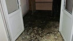 Освобожденный Минюст стоит с выбитыми окнами и затопленными коридорами