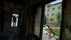 В Луганске загорелся завод по производству боеприпасов