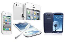 iPhone 5 и Samsung Galaxy S4