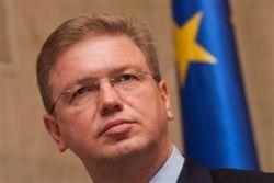 Еврокомиссар Фюле попробует посадить за стол переговоров власть Украины и оппозицию