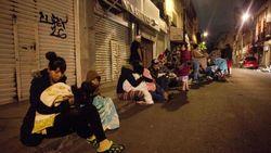 После землетрясения люди ночь провели на улице
