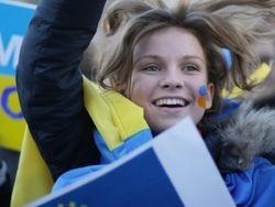 Студенты Запорожья прошли по городу маршем в поддержку единства Украины